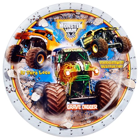 Monster Jam Party Supplies 16 Pack Lunch Plates - Monster Truck Party Supplies