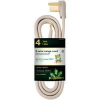 GoGreen Power 4' 3-Wire Range Cord, Gray, 27004