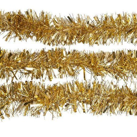 GOLD Luxury Deluxe Chunky Christmas Tinsel Garland Tree Decoration 120mm Width