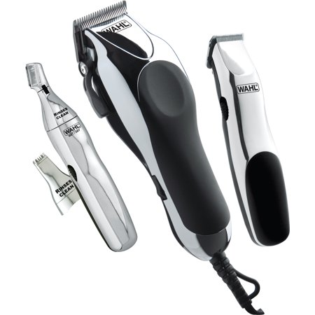 (WAHL Signature Series Home Barber Kit - Full size clipper, trimmer for sideburns and necklines and personal trimmer with two interchangeable heads - Model 79524-3001)