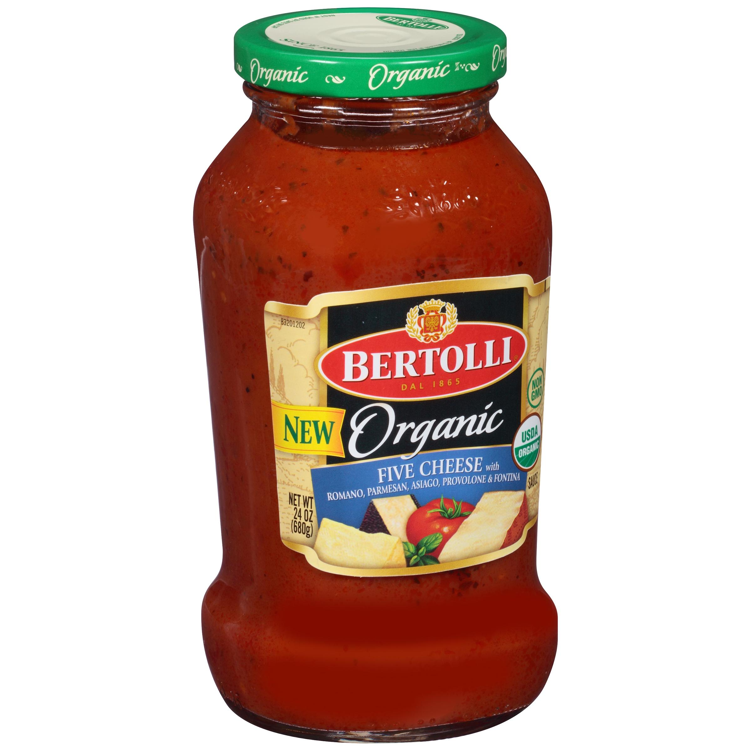 (2 Pack) Bertolli Organic Five Cheese Pasta Sauce 24 oz.
