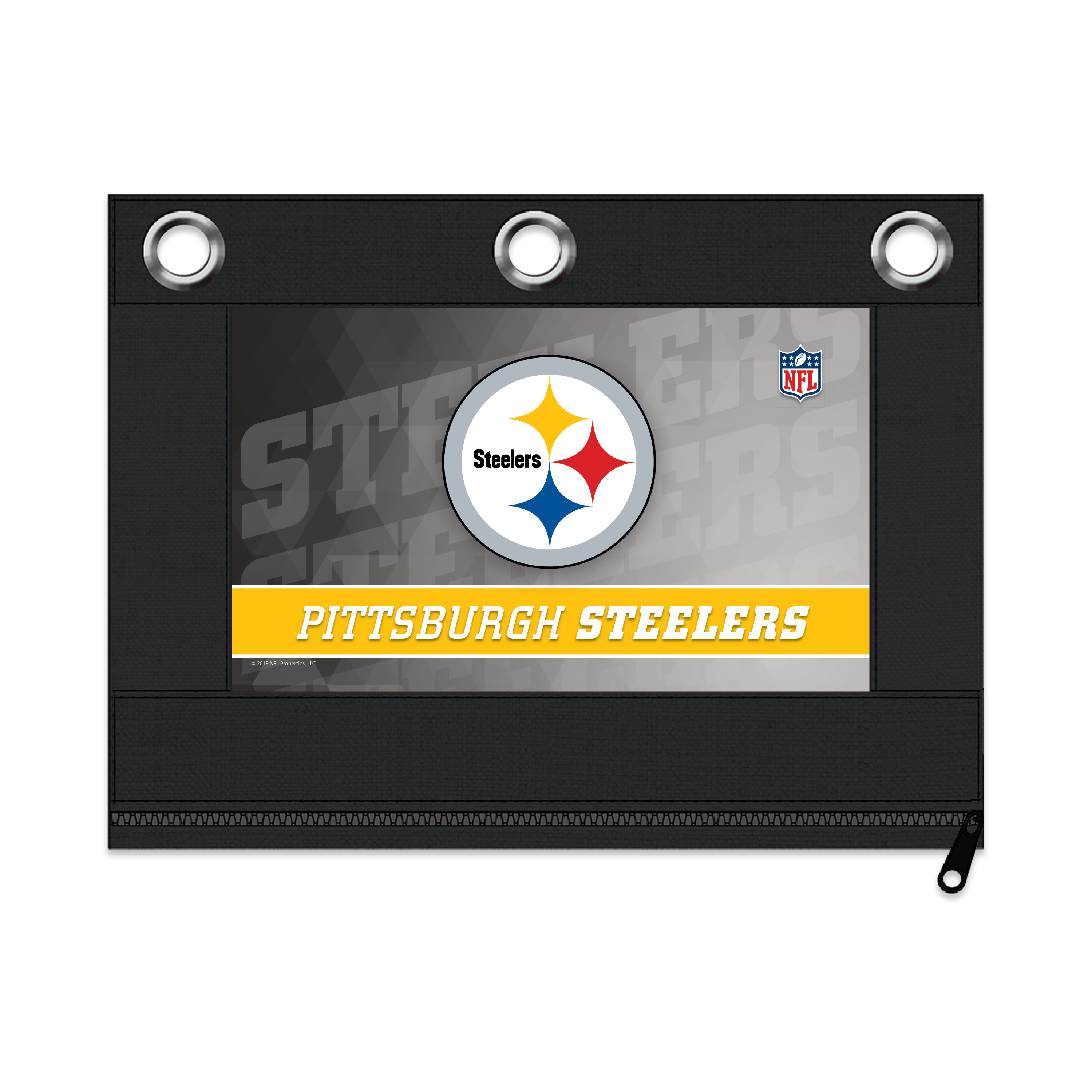Fabric Pencil Pouch Pittsburgh Steelers