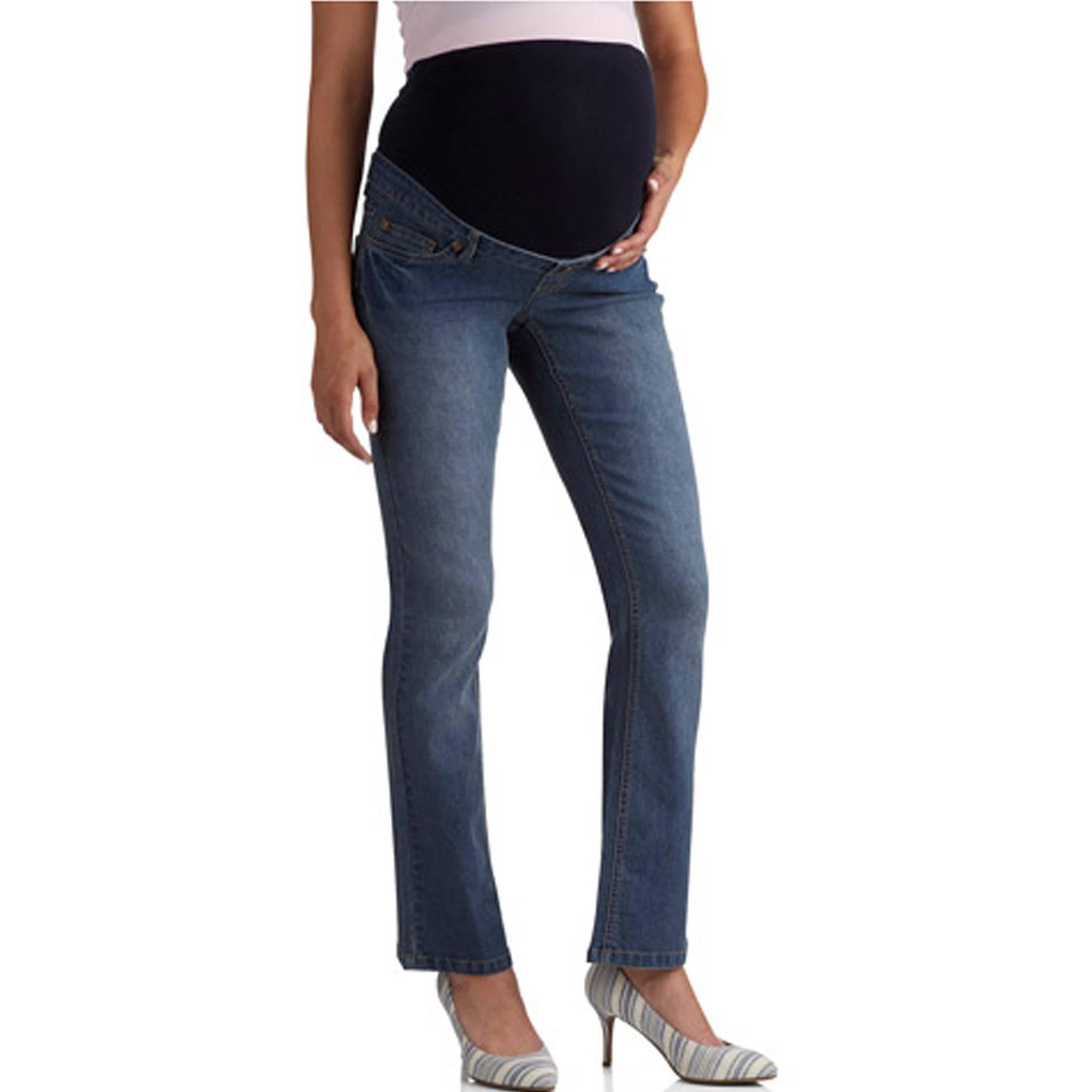 Planet Motherhood Full-Panel 5-Pocket Bootcut Maternity Jeans ...