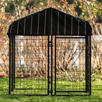 """Lucky Dog Welded Wire Pet Resort with Cover, 52""""H x 48""""W x 48""""L"""