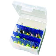 Flambeau Outdoors Large Spinnerbait Fishign Tackle Box, Clear