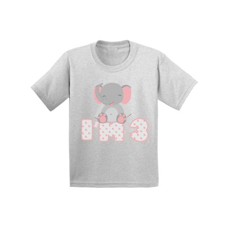 Awkward Styles 3rd Birthday Toddler Shirt Elephant Gifts For 3 Year Third Old My