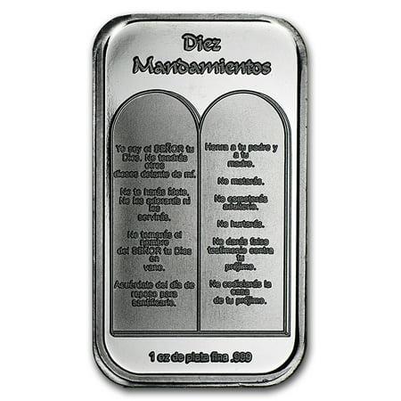 Not Specified 1 Oz Silver Bar Ten Commandments