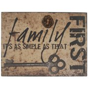 Blossom Bucket 'Family First' Box Sign Wall D cor