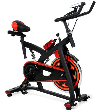 Best Choice Products Exercise Bike Health Fitness Indoor Cycling Bicycle  Cardio Workout with LCD Screen