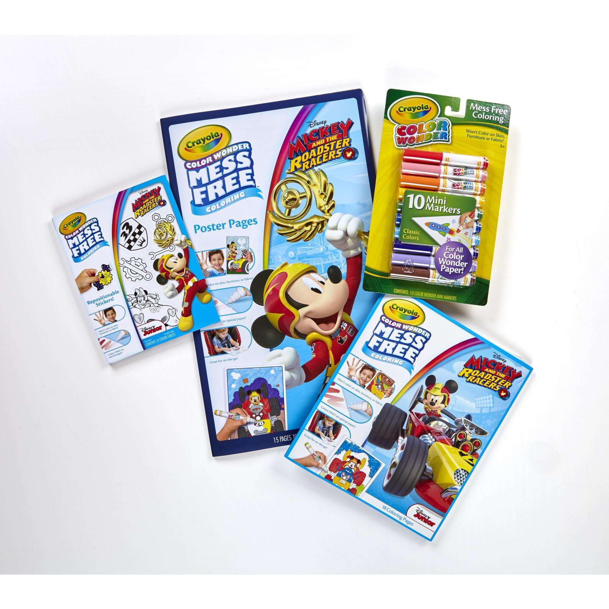 Crayola Color Wonder Mickey And Roadster Racers Variety Pack Walmart Com Walmart Com