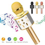 TSV Wireless Bluetooth Karaoke Microphone for Kids, Kids Karaoke Machine Portable Handheld Mic Speaker for Home Party Birthday Graduation Compatible with iPhone Android iPad All Smartphones