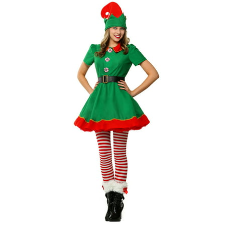 Womens Holiday Elf Plus Size Costume (Female Blood Elf Halloween Costume)