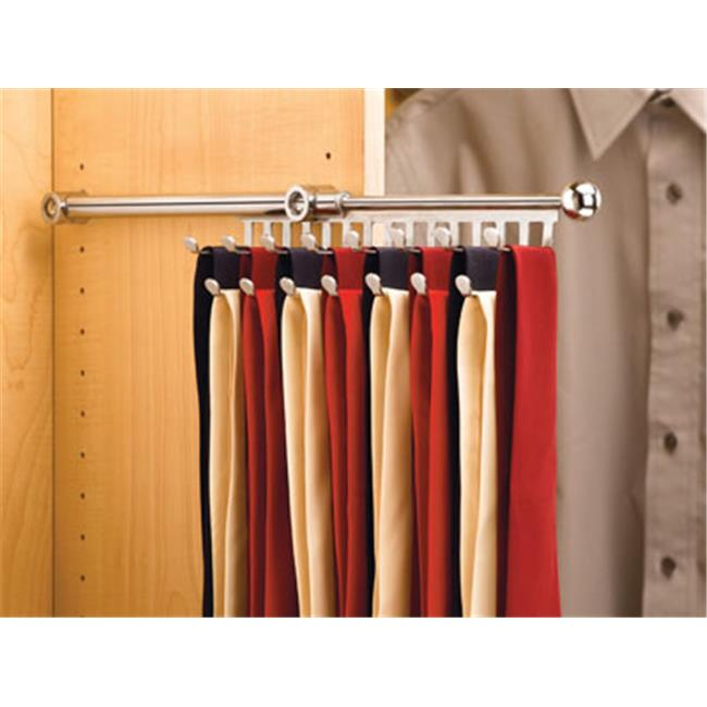 Rev A Shelf Rsctr.14.Cr 13-.88 In. - 21-.88 In. L Rev-A-Shelf Tie-Scarf Rack - Chrome