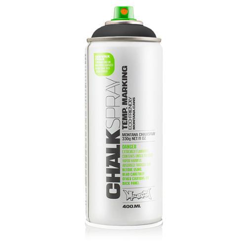 Montana Can BLACK Chalk Spray Paint 400ml Temporary Marking Eco-Friendly Aerosol