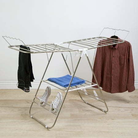 Heavy Duty Laundry Drying Rack- Stainless Steel Clothing Shelf for Indoor and Outdoor Use Best Used for Shirts Pants Towels Shoes by Everyday Home