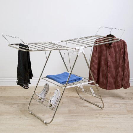Heavy Duty Laundry Drying Rack- Stainless Steel Clothing Shelf for Indoor and Outdoor Use Best Used for Shirts Pants Towels Shoes by Everyday