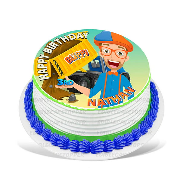 Super Blippi Edible Cake Image Topper Personalized Birthday Party 8 Personalised Birthday Cards Paralily Jamesorg