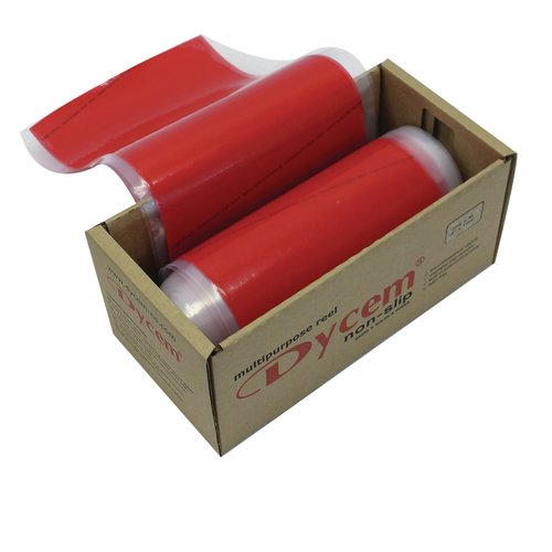 "Dycem Non-Slip Material, Roll, 8"" x 16 Yard, Red"