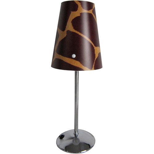 Limelights Mini Silver Table Lamp with Plastic Printed Shade