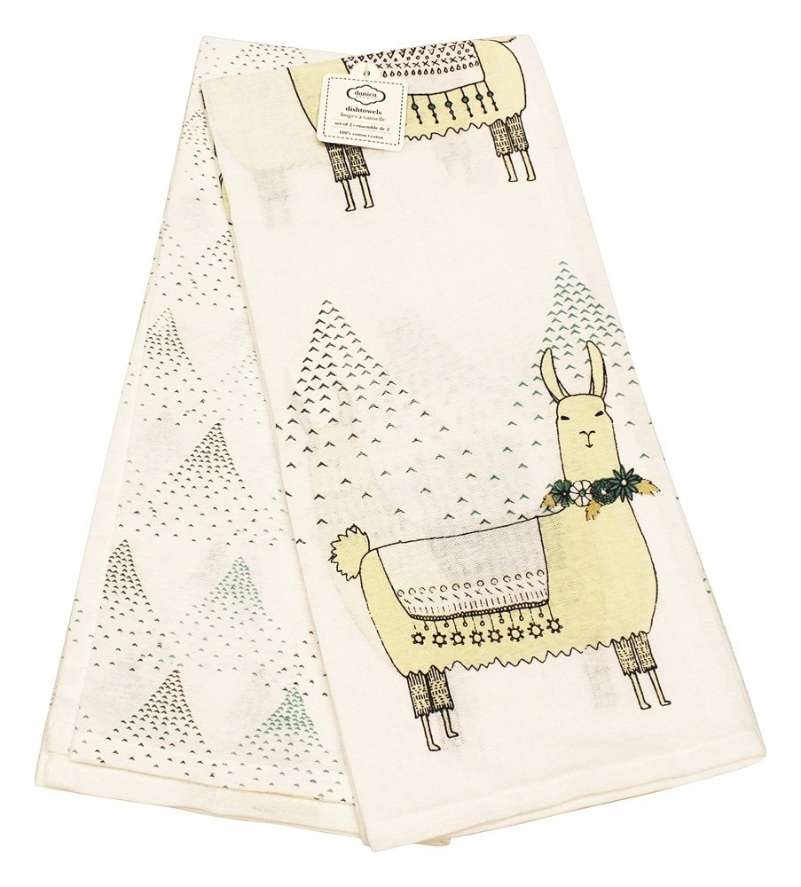 Danica Studio - 100% Cotton Dish Towels Llamarama - 2 Towel(s)