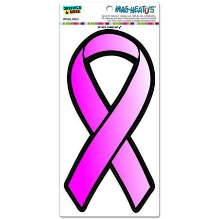 Pink Ribbon Breast Cancer Awareness Find A Cure Automotive Car Refrigerator Locker Vinyl (Ribbon Breast Cancer Car Magnet)