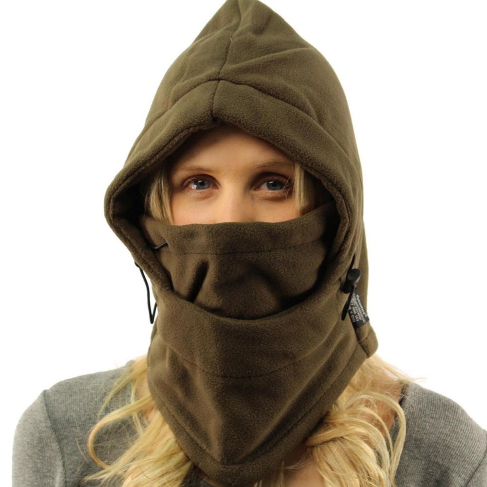 Adjustable Fleece Windproof Ski Face Mask Balaclavas Hood Olive by Pureaid