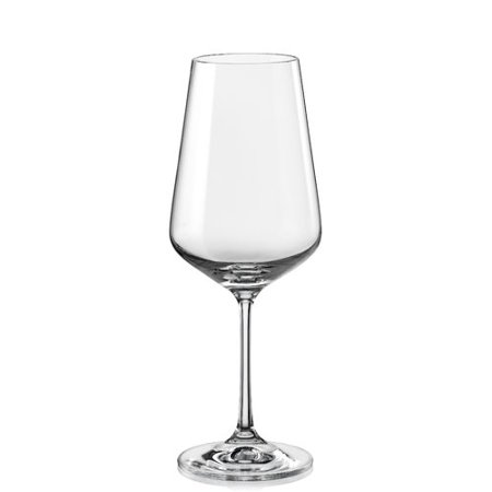 Red Vanilla Sandra 15 oz. Stemmed Wine Glass (Set of 6) ()