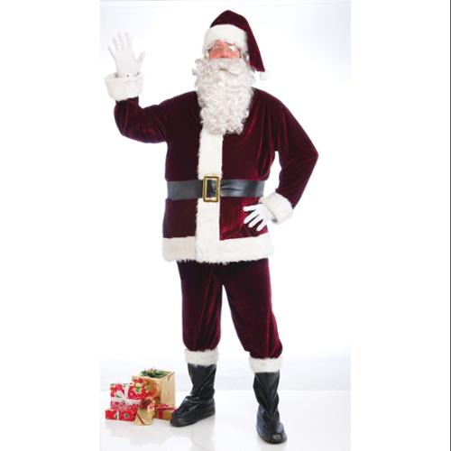 Crimson Velvet Santa Suit Costume Adult X-Large