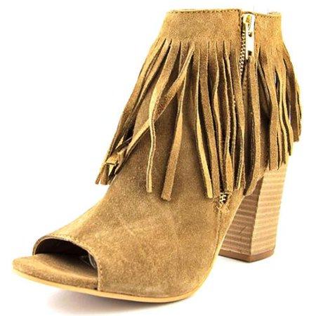 Carlos by Carlos Santana Jasper Hawa Peep-Toe Suede Ankle Boot