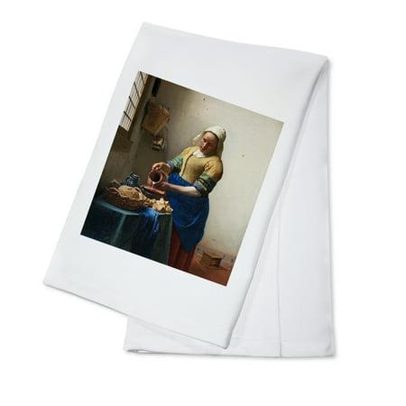 Adult Milkmaid (The Milkmaid - Masterpiece Classic - Artist: Johannes Vermeer c. 1660 (100% Cotton Kitchen)