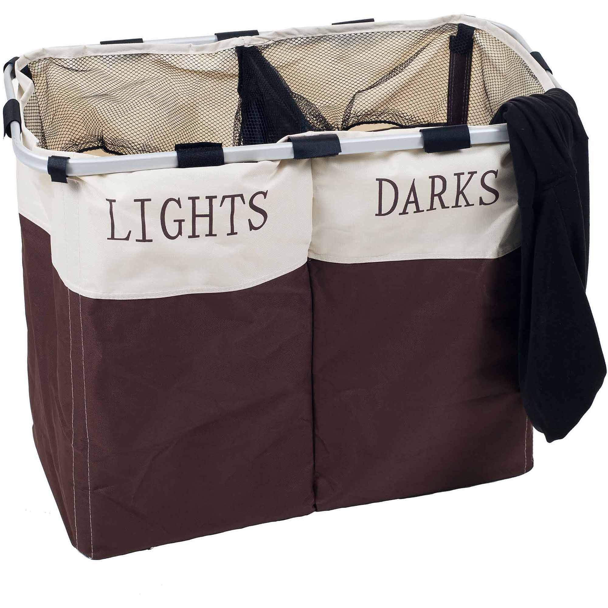 Lavish Home Foldable Double Laundry Hamper