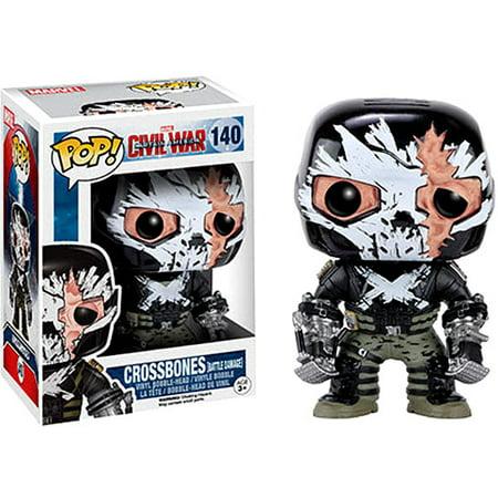 Funko POP! Marvel Crossbones Vinyl Bobble Head [Battle Damage]