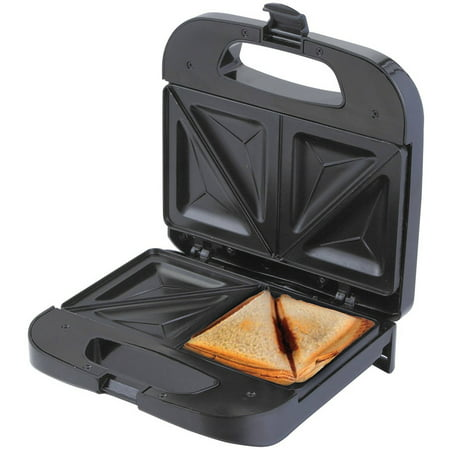 Metal Sandwich (Chefman Sandwich Maker, Makes 2 Full Sandwiches with Deep Non-Stick Pockets Black )