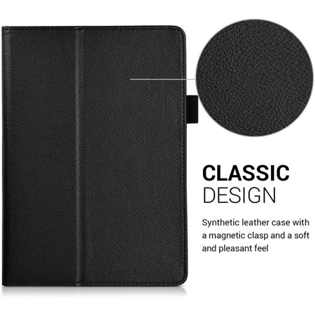 kwmobile Case Compatible with Huawei MediaPad T3 10 - Slim PU Leather Tablet Cover with Stand Feature - Black - image 2 de 5