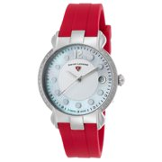 16591Sm-02-Rds Layla Diamond Red Silicone White And Mop Dial Ss Watch