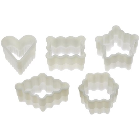 Fat Daddios 5 Piece Fluted Petit Four Nylon Cutter Set