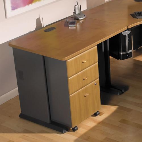 "Bush Series A Desk, 36"", 48"", 60"" or 72"" Wide, Natural Cherry or Hansen Cherry"