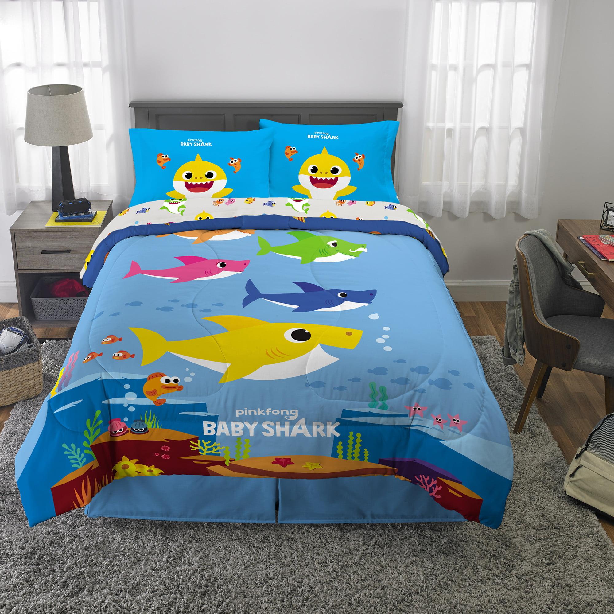 Baby Shark Bed in a Bag, Kids Bedding Bundle Set, 5-Piece ...