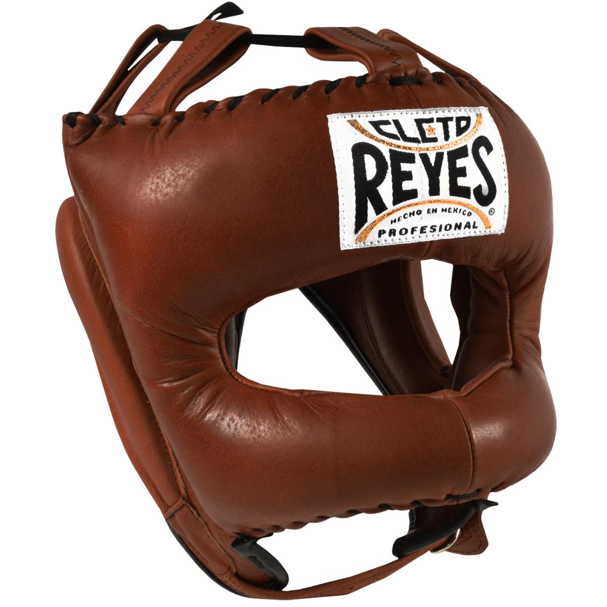 Cleto Reyes Traditional Leather Boxing Headgear w/ Nylon Face Bar -Vintage Brown
