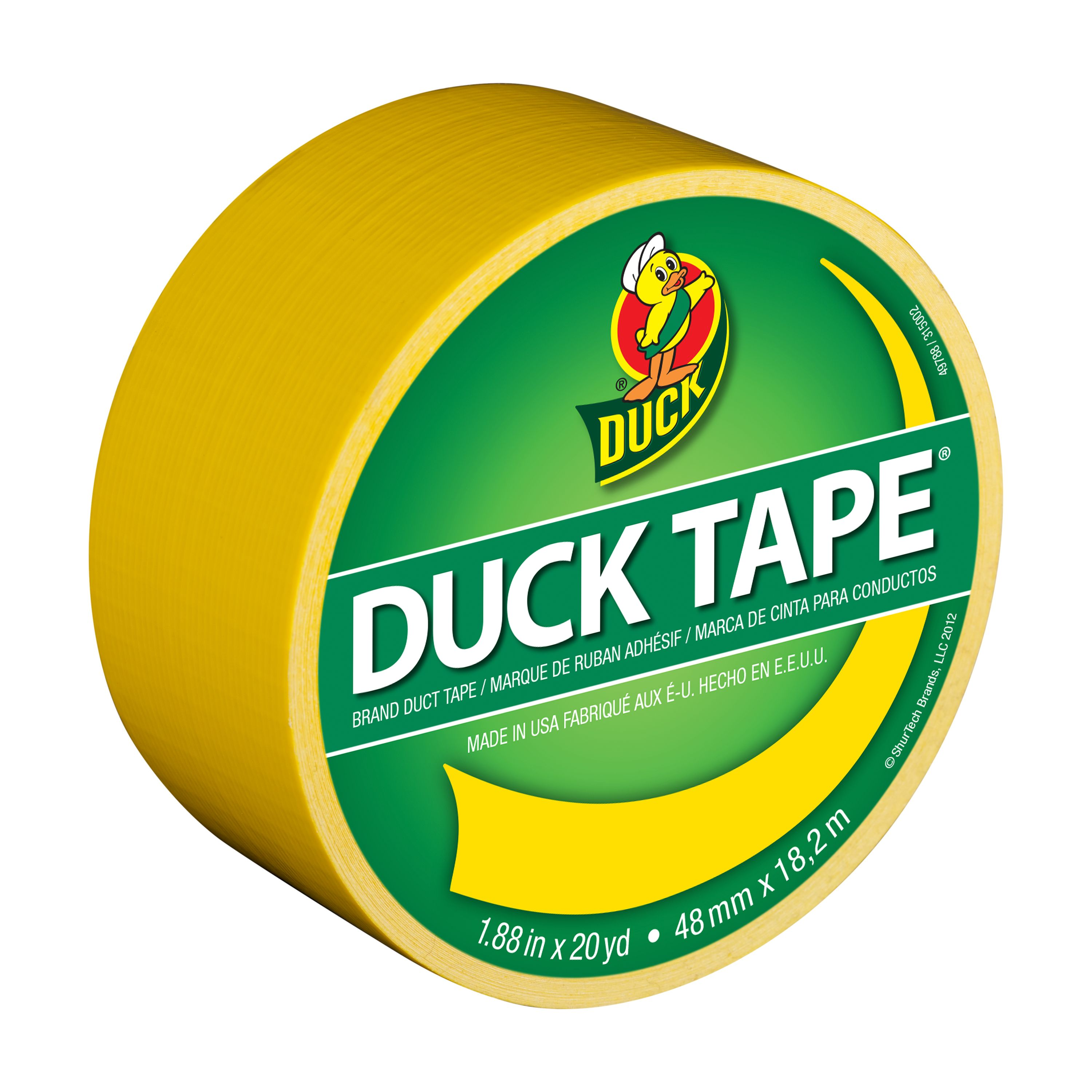 Duck Brand Color Duct Tape, 1.88 in. x 20 yard, Yellow