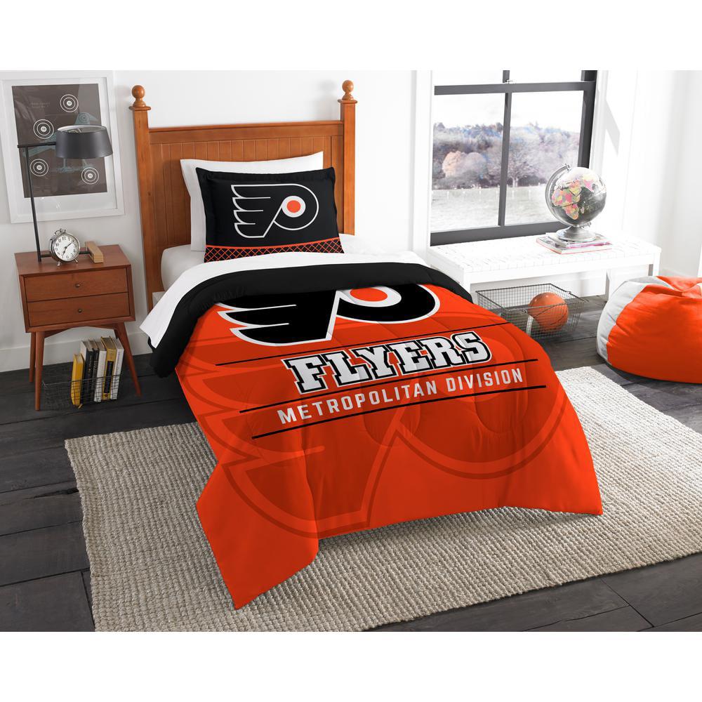 "NHL Philadelphia Flyers ""Draft"" Bedding Comforter Set"