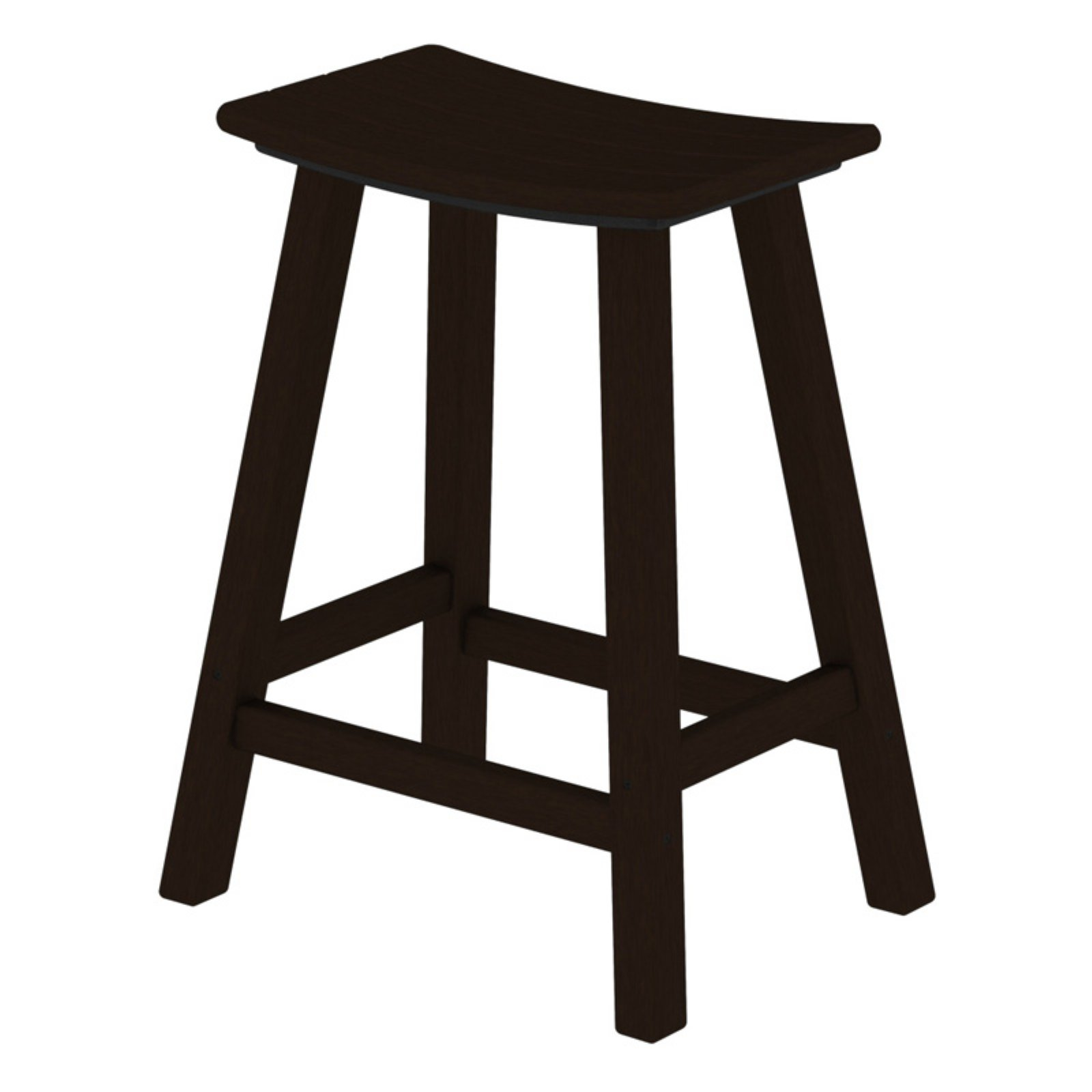 POLYWOOD® Traditional 24 in. Saddle Bar Stool