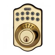 LockState RemoteLock WiFi Electronic Deadbolt Door Lock,Polished Brass LS-DB500i