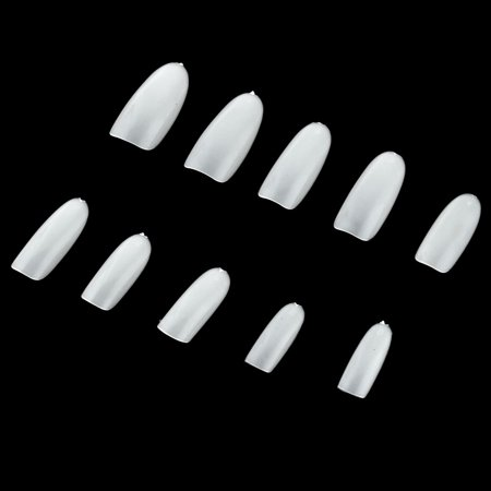 Cosmetic Tool Plastic Artificial Fingernail Full Nail Art Tips White 500 in 1 - image 1 of 4