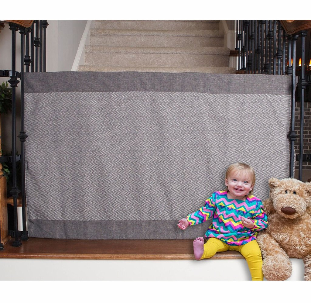 The Stair Barrier Banister to Banister Safety Gate - Modern Gray