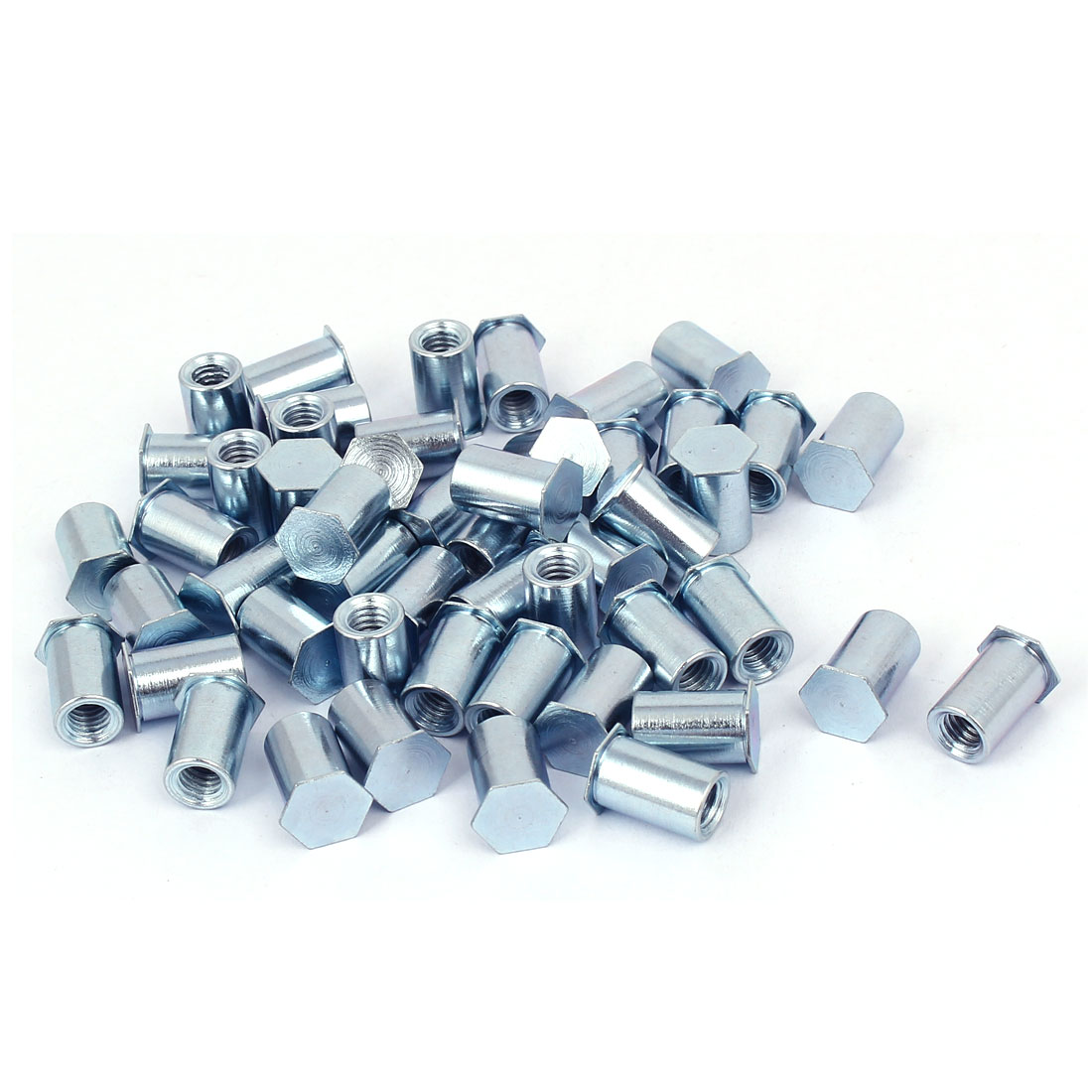 Unique Bargains M6 x 14mm Thread Blind Hole Carbon Steel Self Clinching Standoffs 50 Pcs