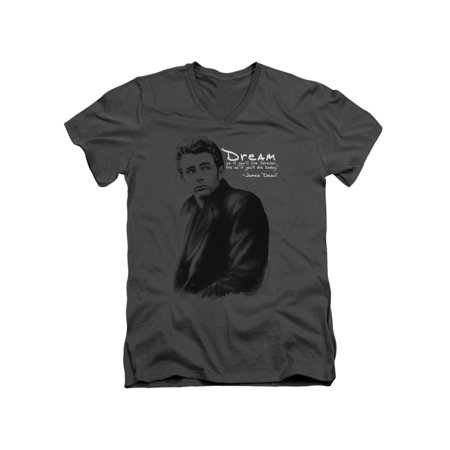 - James Dean Icon Movie Actor Trench Adult V-Neck T-Shirt Tee
