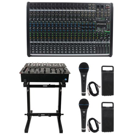 - Mackie PROFX22v2 Pro 22-Channel 4 Bus Mixer w FX + USB PROFX22 V2+Stand+(2) Mics