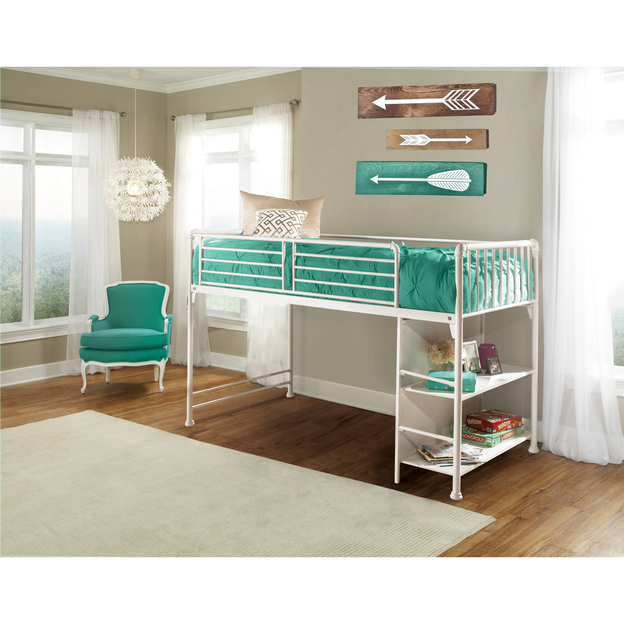 Hillsdale Furniture Brandi Junior Loft Bed Walmart Com