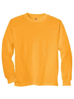 Hanes Boys 4-18 Tagless Long Sleeve Tee